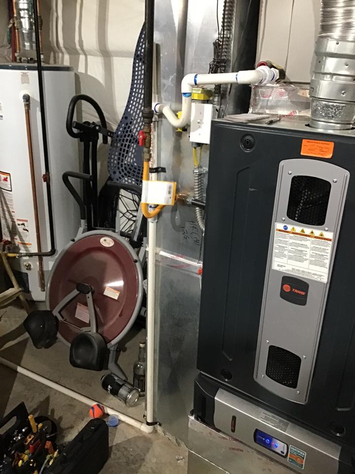 Colorado Springs, CO - Trane furnace tune up. Water heater estimate