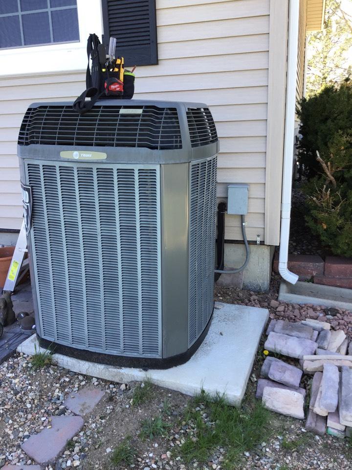 Peyton, CO - Trane AC inspection. Humidifier removal