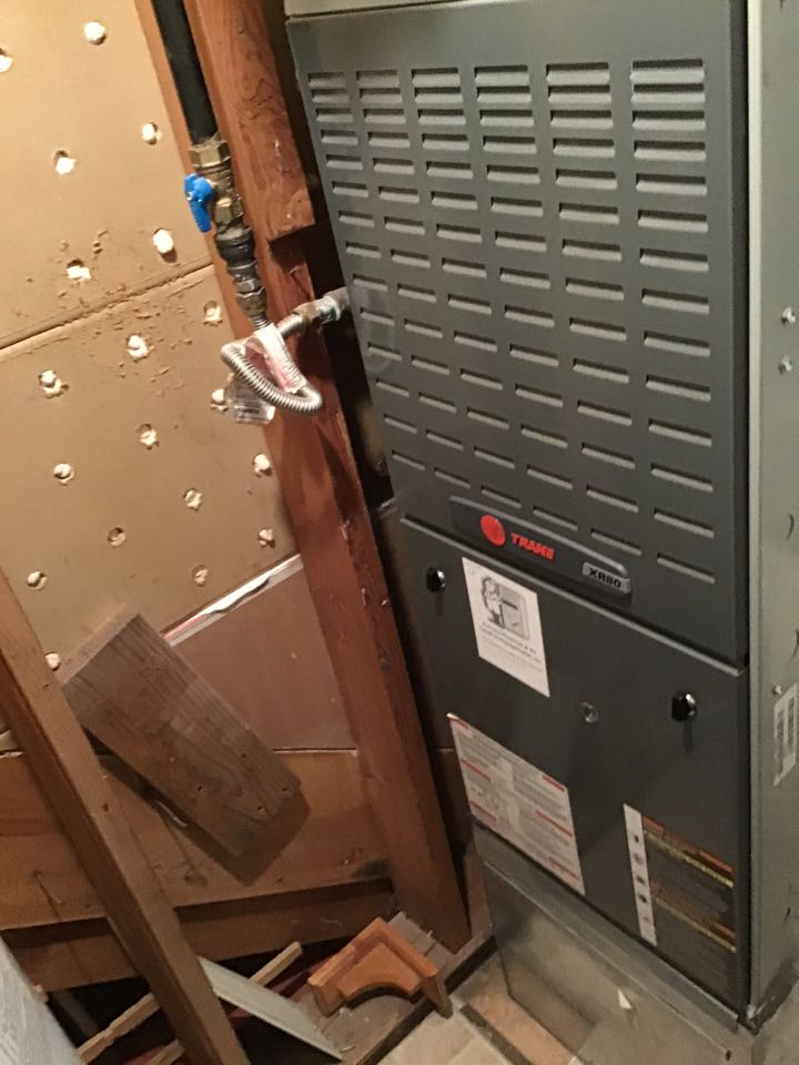 Colorado Springs, CO - Trane furnace maintenance and fireplace safety check