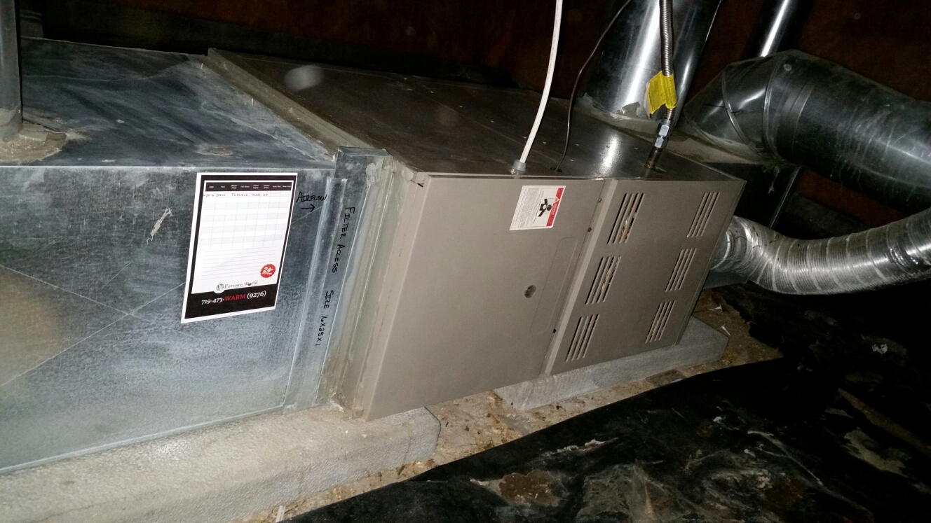Peyton, CO - Furnace maintenance service call. Performed tune up on Goodman furnace.
