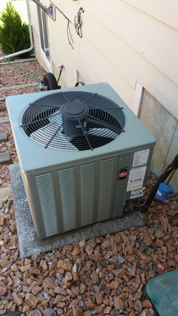 Fountain, CO - Air conditioning maintenance service call. Performed tune up on Rheem ac.