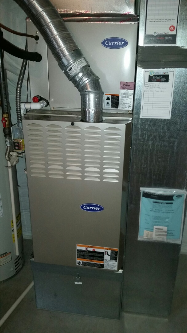 Fountain, CO - Furnace service call. Performed repair on Carrier furnace.