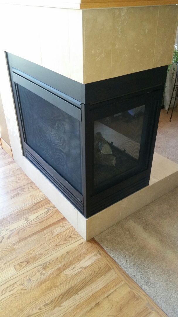 Monument, CO - Gas fireplace maintenance service call. Performed cleaning and safety check on heat n glo fireplace.