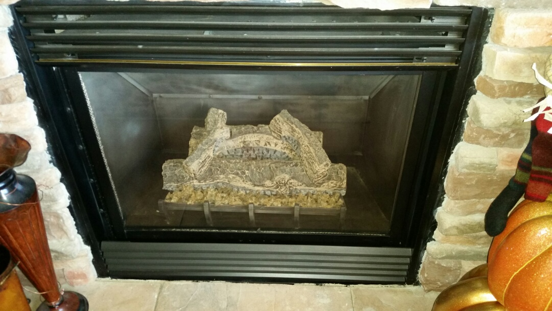 Monument, CO - Gas fireplace maintenance service call. Performed tune up on FMI fireplace