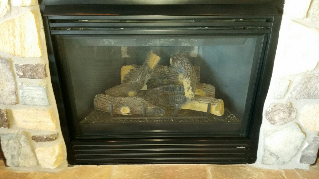 Monument, CO - Gas fireplace maintenance service call. Performed tune up, clean and safety check on Heatilator fireplaces.