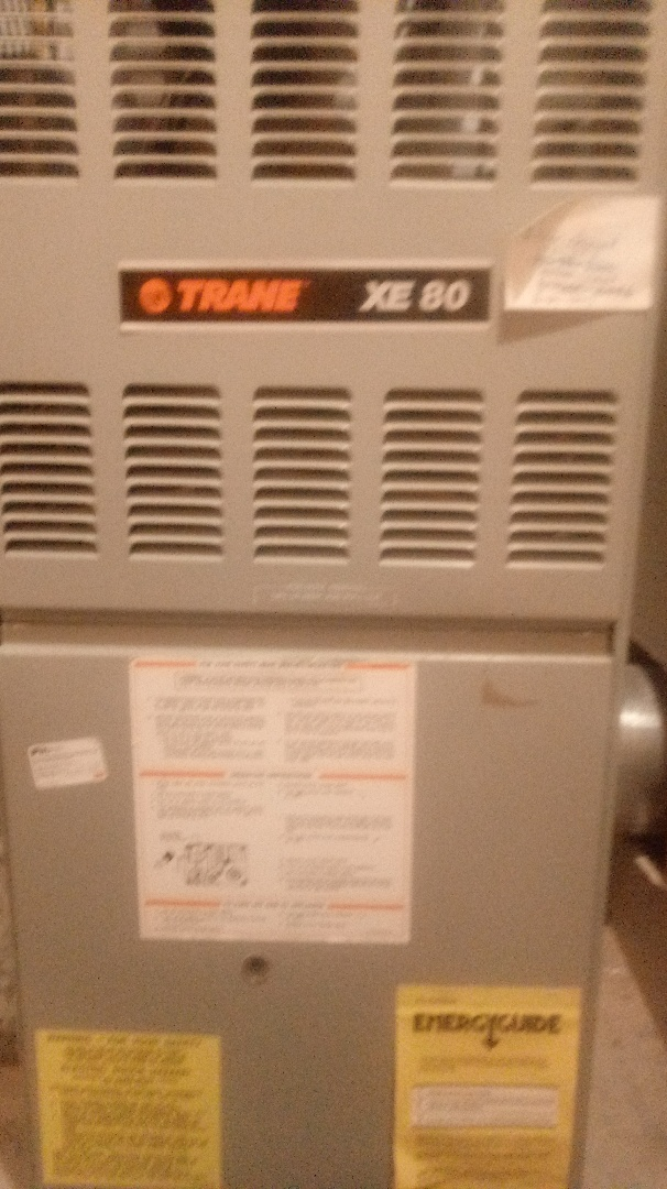 Colorado Springs, CO - Furnace maintenance call. Perfom furnace tuneup on trane system. Clean system. Polish flame sense rod. Check for gas leaks and CO. Cycle and test system operation.