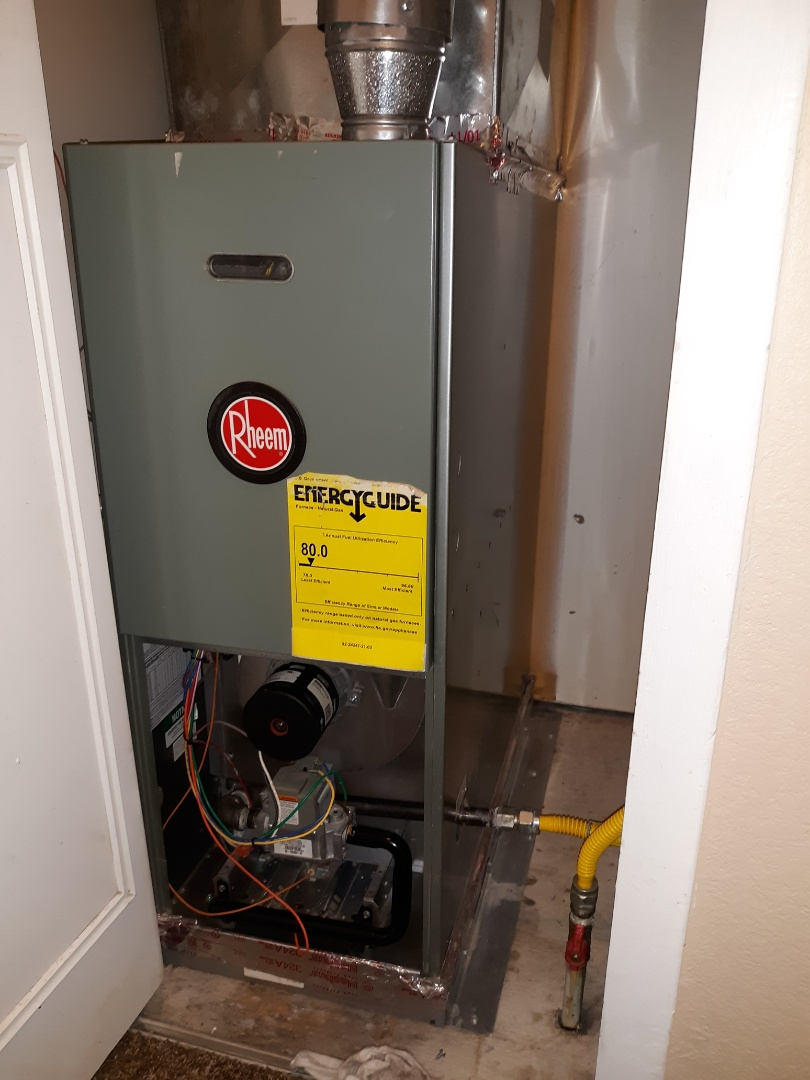 Colorado Springs, CO - Rheem natural gas furnace tune up.