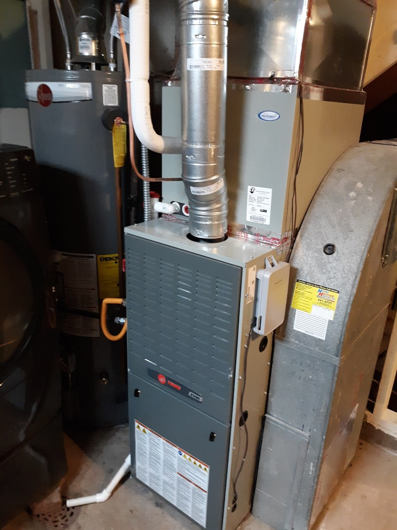 Colorado Springs, CO - Installed new trane 80 percent natural gas furnace.
