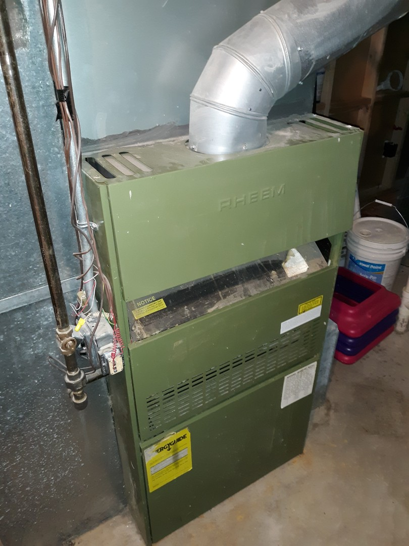 Colorado Springs, CO - Repair on Rheem 70 percent natural gas furnace.