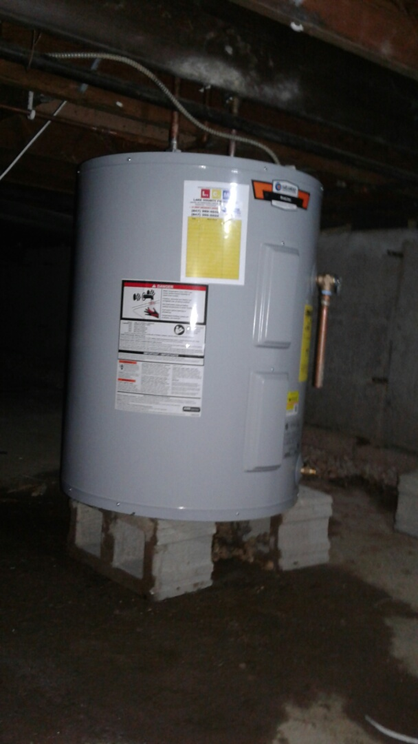 Antioch, IL - Electric water heater install