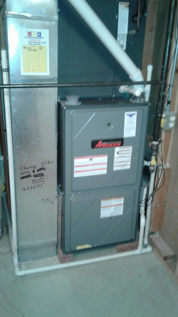 Gurnee, IL - Amana furnace clean and check