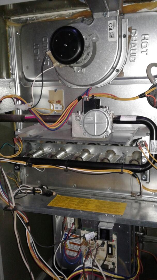 Mundelein, IL - Furnace inspection on trane