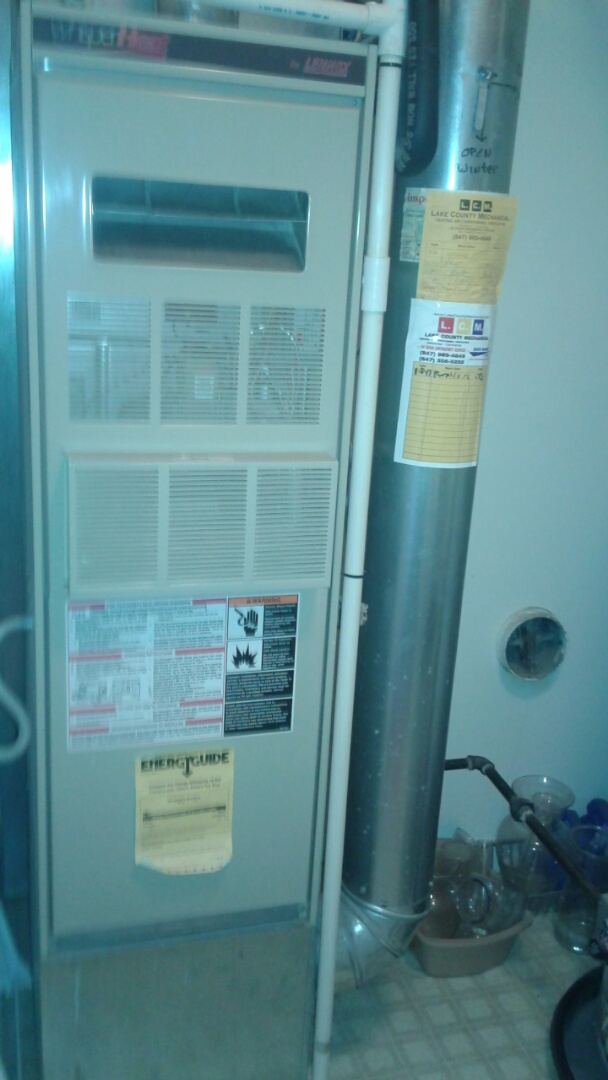 Gurnee, IL - Lennox furnace clean and check