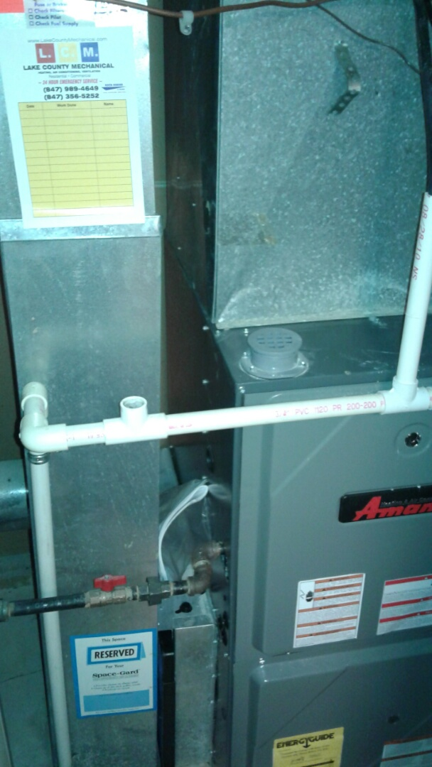 Gurnee, IL - Furnace inspection on Amana