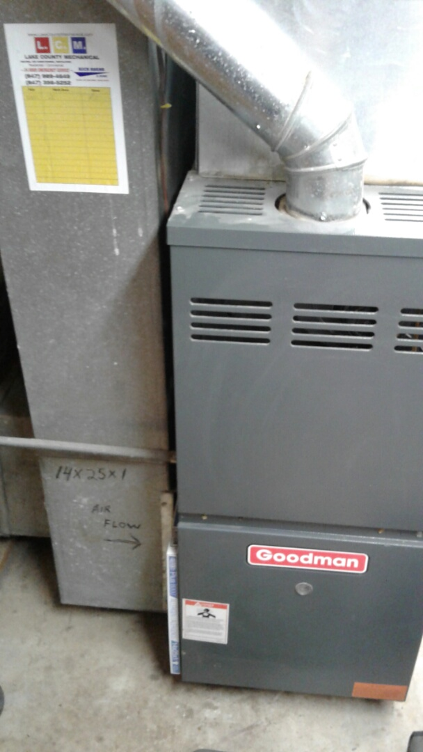 Antioch, IL - Furnace inspection on goodman.