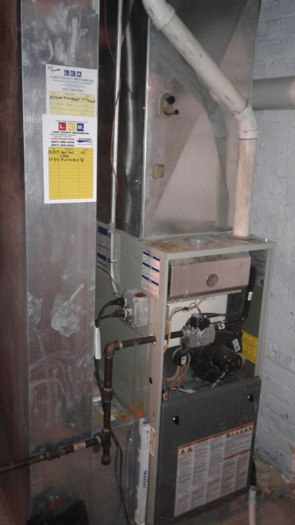 Waukegan, IL - Trane furnace clean and check