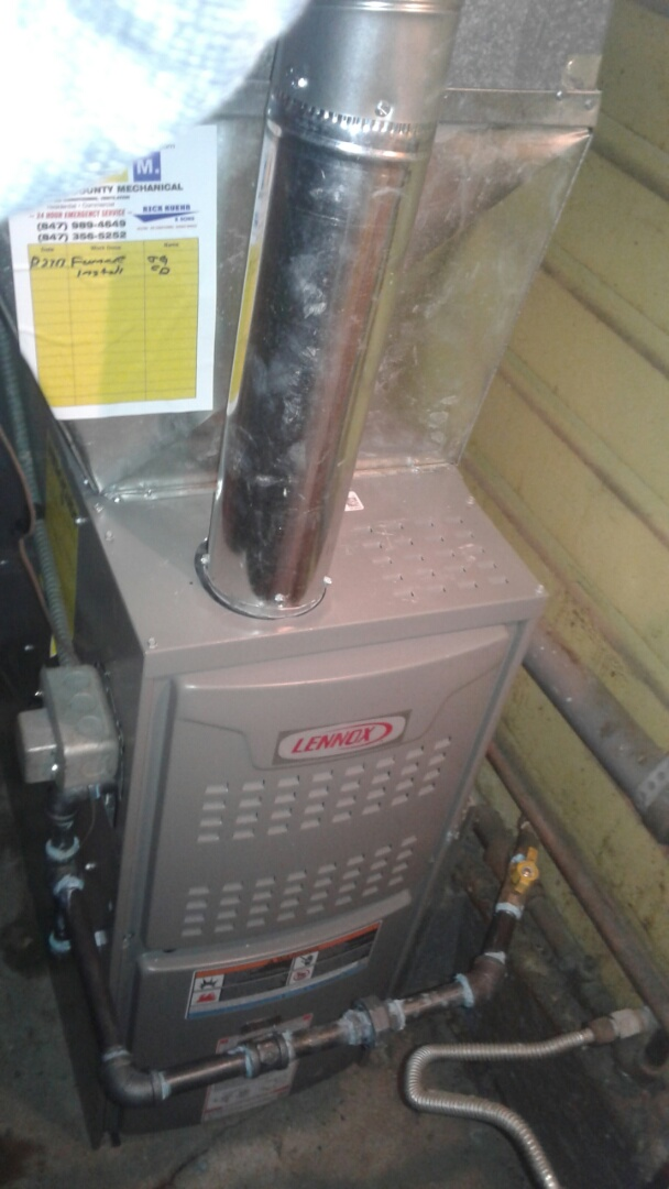 Antioch, IL - Lennox new furnace installation