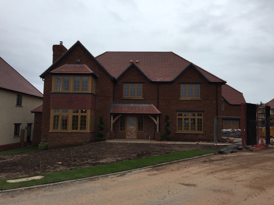 Walsall, West Midlands - The rain just held off long enough to fit the remaining 5 bell boxes for Cala Homes on the edge of Aldridge ready for the alarms to be fired as and when they require them.