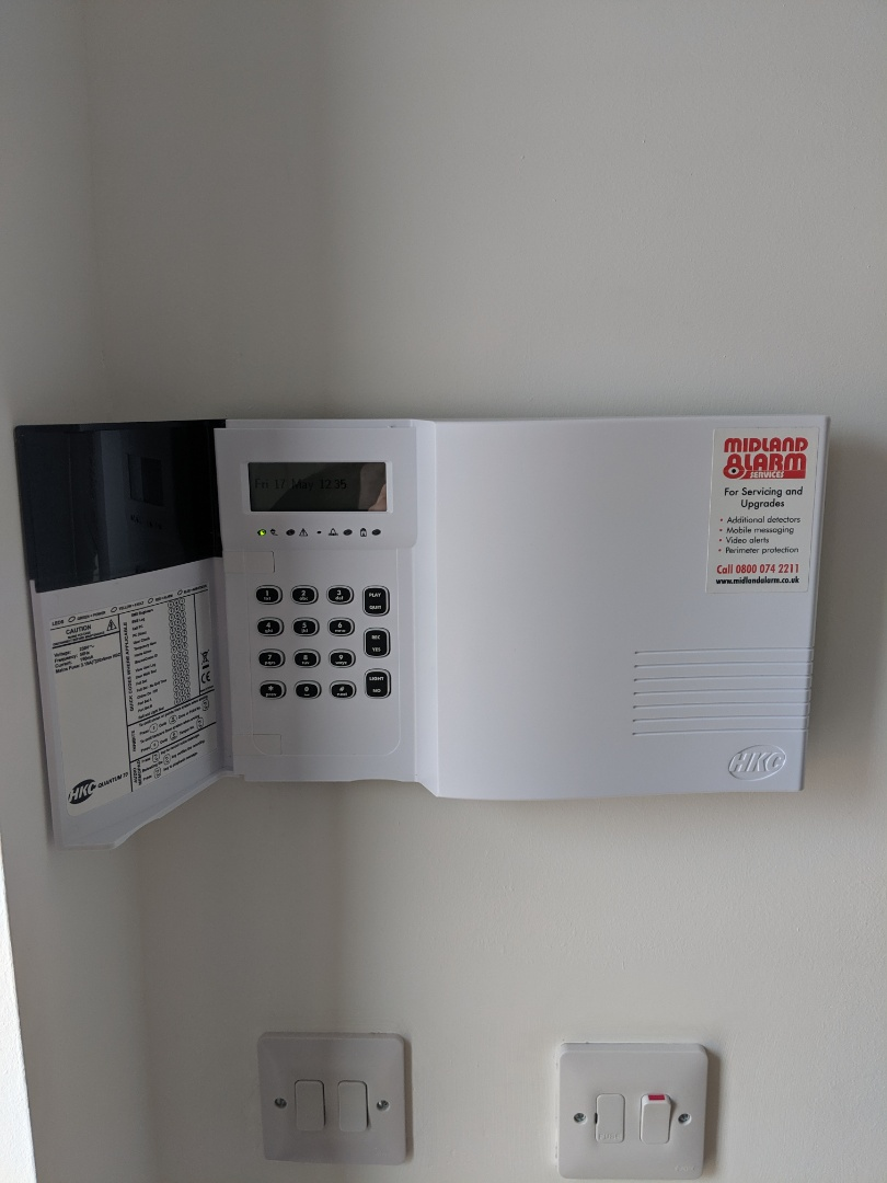 Installing a new Hkc quantum alarm system with shock sensors and WiFi