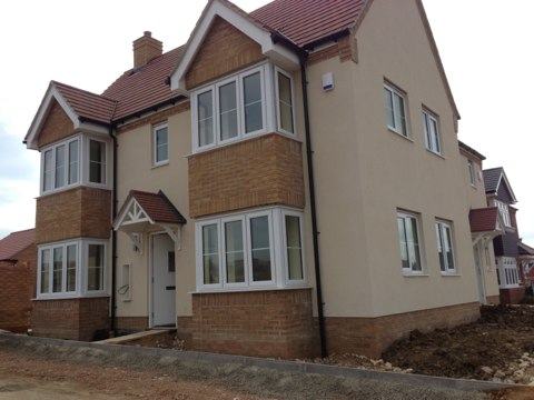 Milton Keynes, Buckinghamshire - Installation of 2 Visonic Power Master 30 alarms with wireless bell boxes for Bovis Homes.