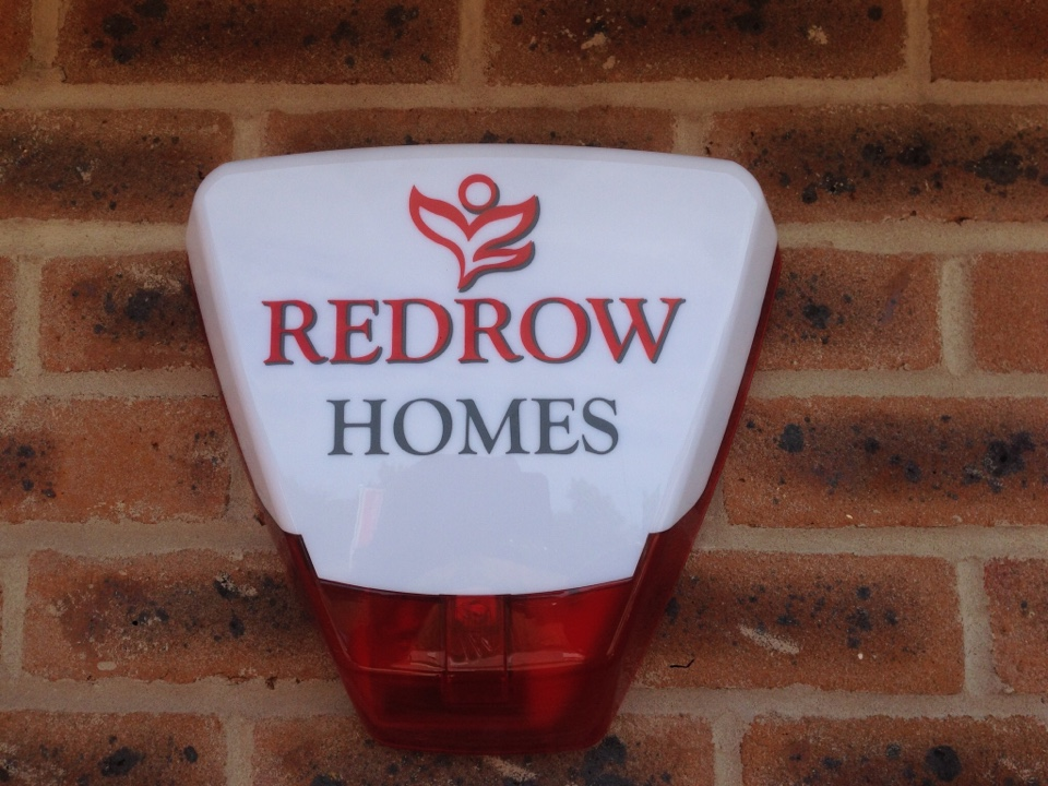 Another 2 Visonic Power Master 30 burglar alarms installed for Redrow Homes in Wolverhampton including branded bell boxes.