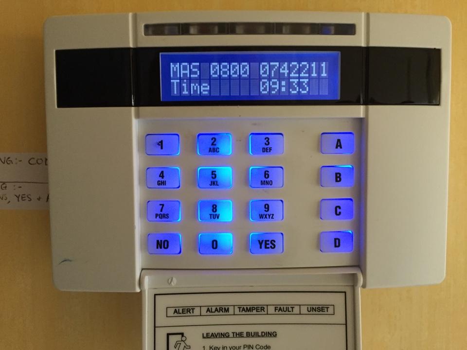 Servicing castle Pyronix Euro alarm in Wolverhampton