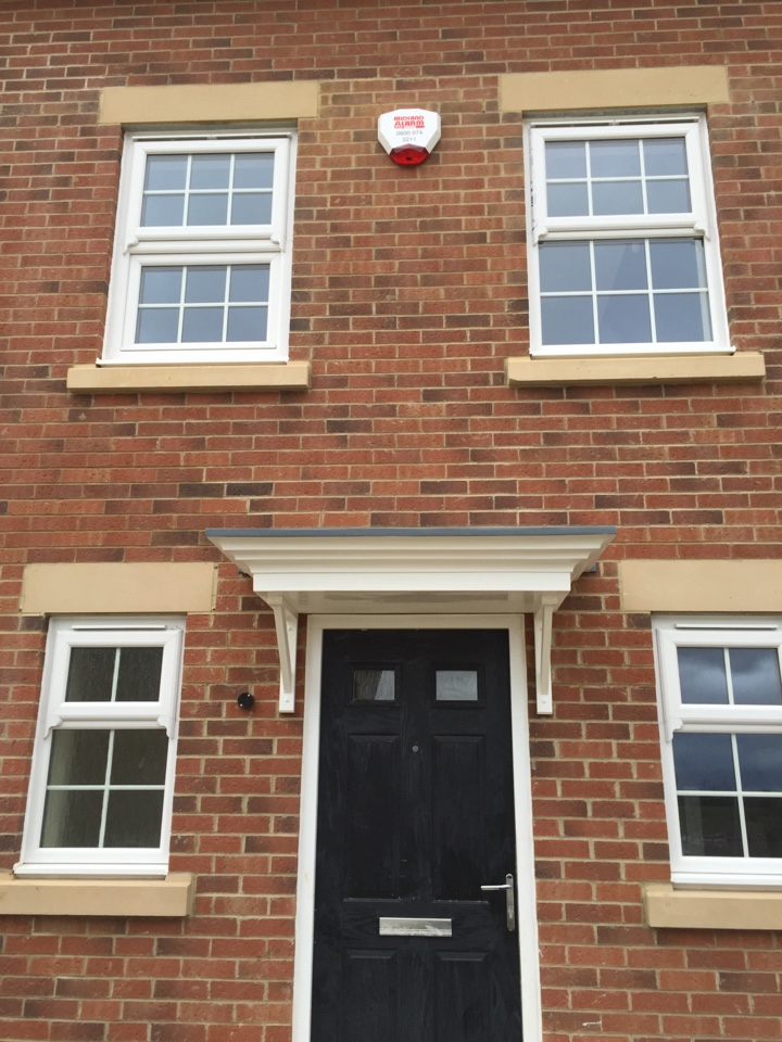 Corby, Northamptonshire - Another alarm fitted for Bovis homes, just in time for Christmas.