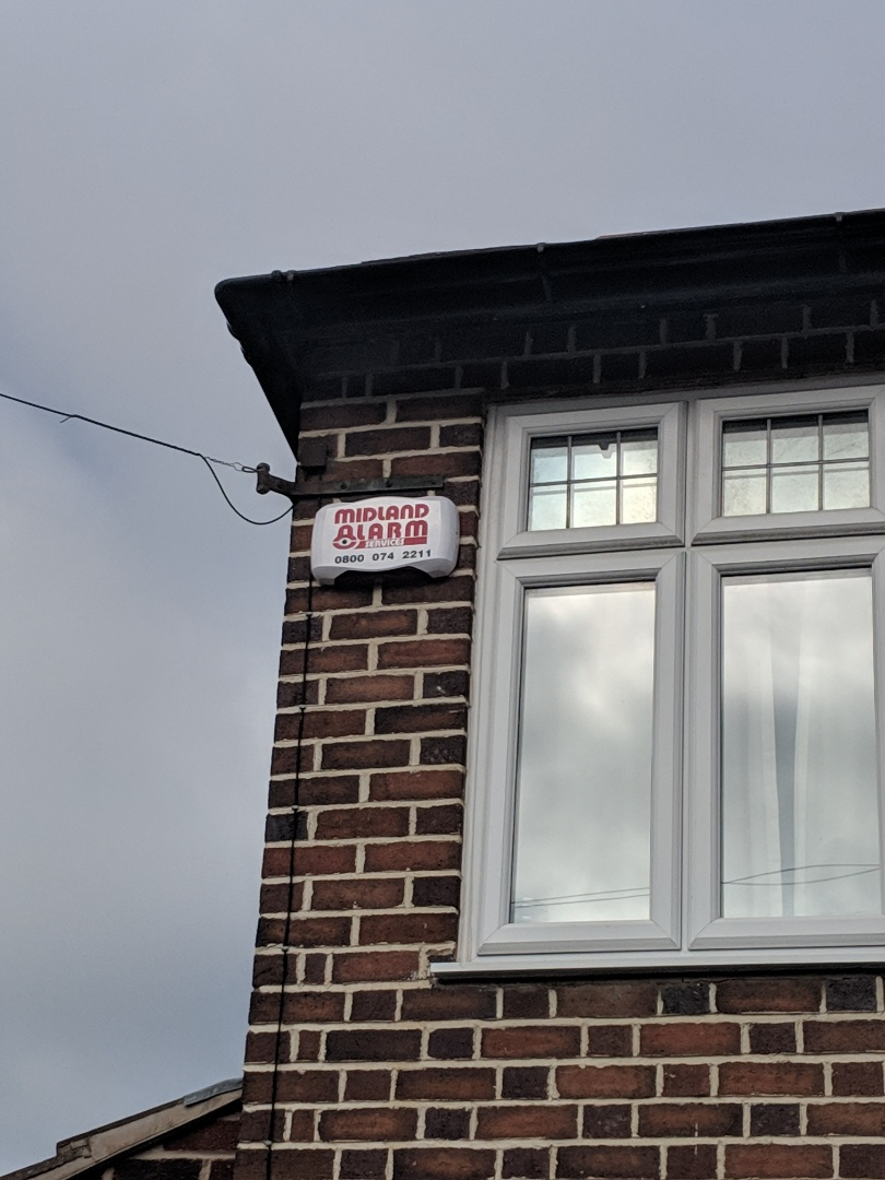 Tamworth, Staffordshire - Installing a new hkc 10270 alarm system with shock sensors and Wi-Fi