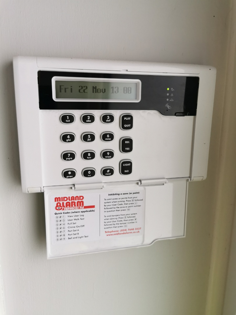 Birmingham, West Midlands - Installing a new hkc quantum alarm system with shock sensors and Wi-Fi