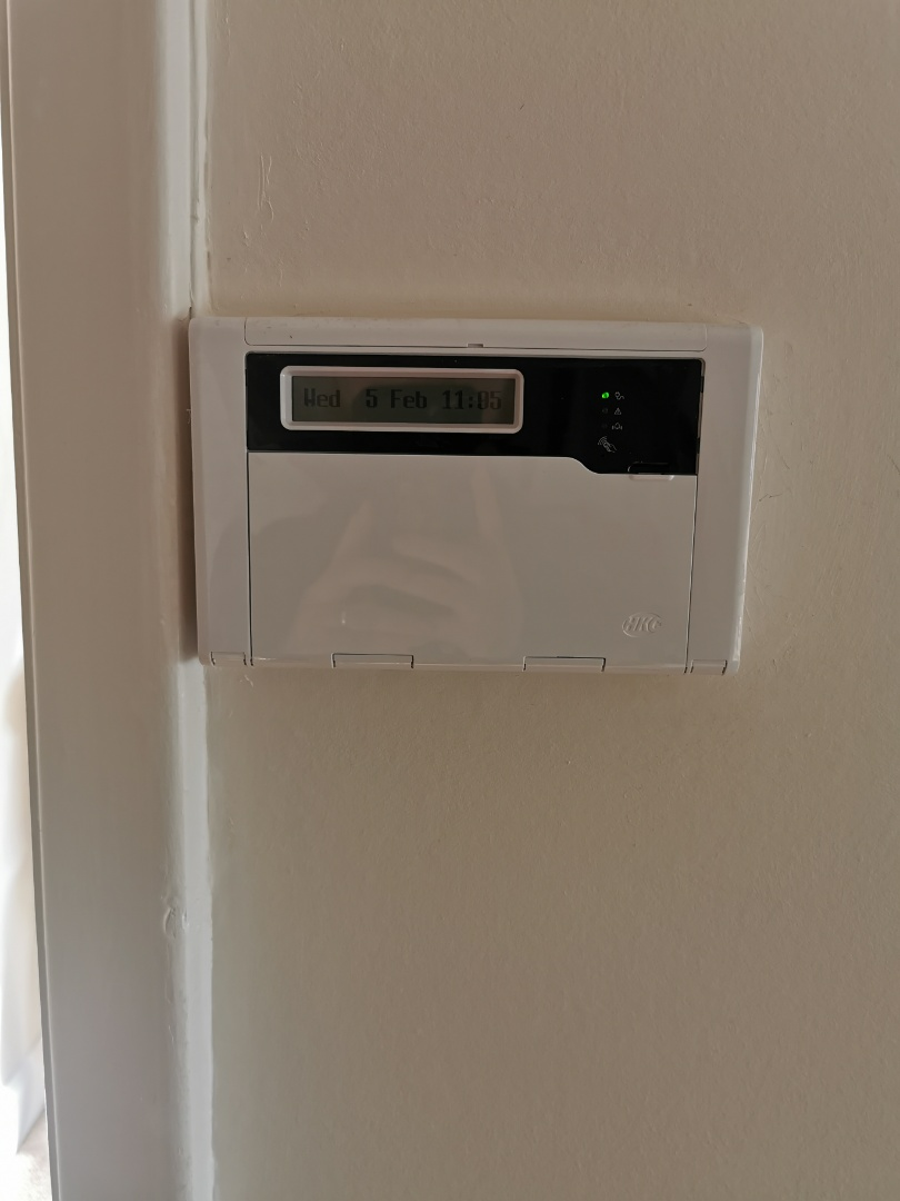 Wolverhampton, West Midlands - Installing a new hkc quantum alarm system with shock sensors and Wi-Fi