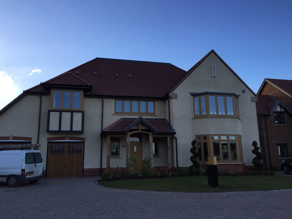 Walsall, West Midlands - Another Cala site gets its final alarm installed, all 8 plots complete of this lovely site in Aldridge. Small site but very big houses.