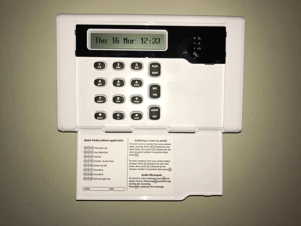 Full Service Plan service for a customer whose alarm we installed 3 years ago. We have checked the whole system, updated the firmware and changed all the batteries.
