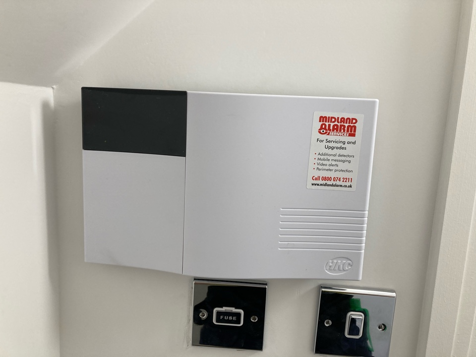 Cala homes in Salford Priors install of a wireless alarm system