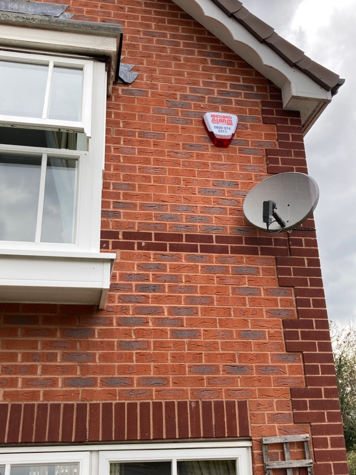 Worcester, Worcestershire - Installing a new wired/wireless hybrid HKC alarm for another happy customer.