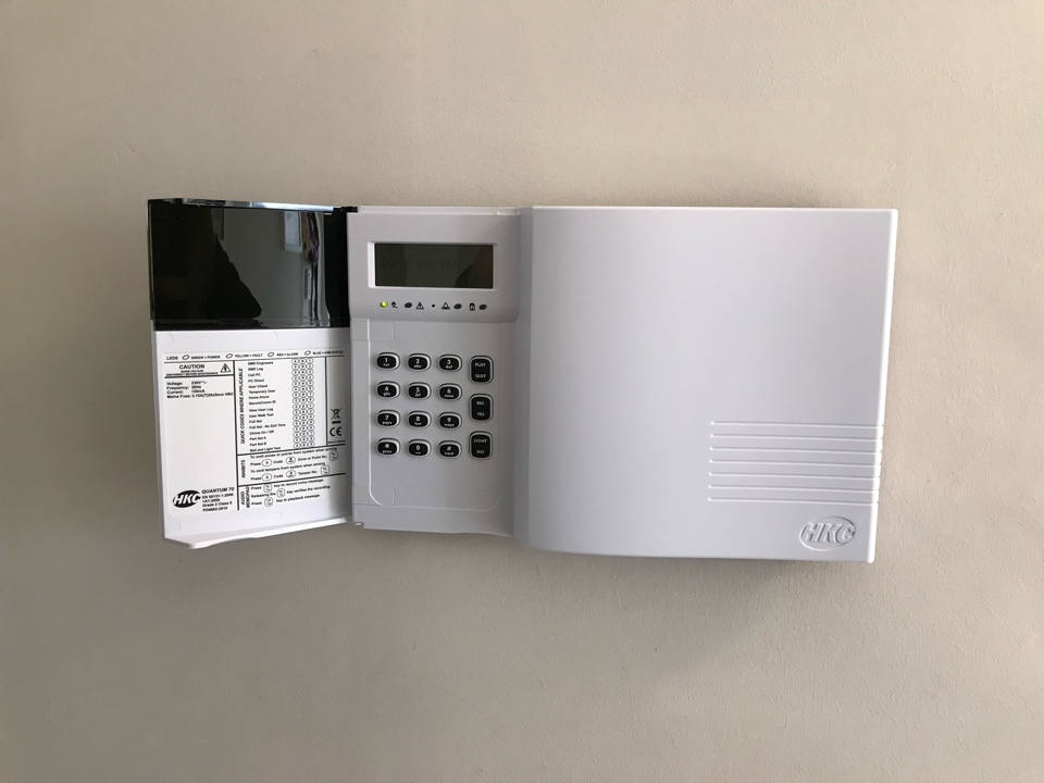 Installation of a wireless alarm for a new customer, this included shock sensors for perimeter protection.