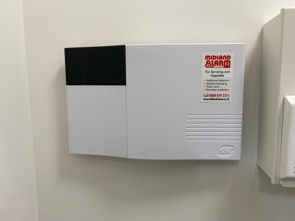 Installation of a wireless intruder alarm for a new customer in Warwick.