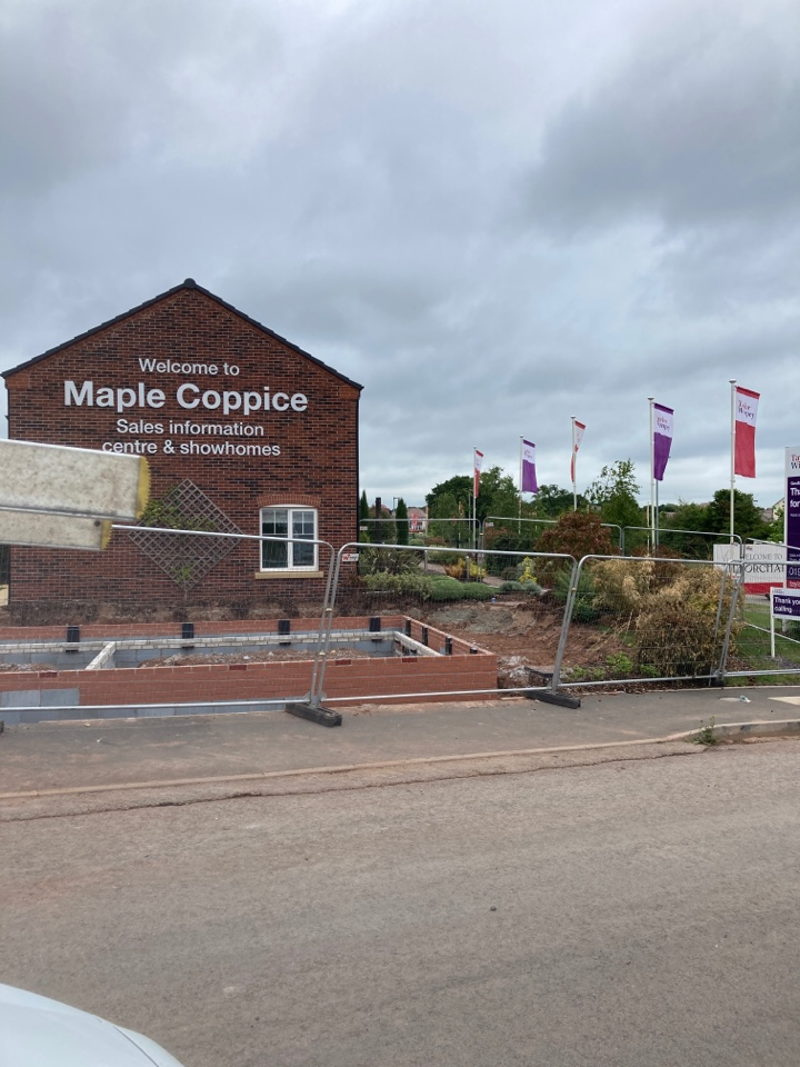 Droitwich, Worcestershire - Installed a new wireless hkc alarm in another plot on the Taylor Wimpey Maple Coppice site