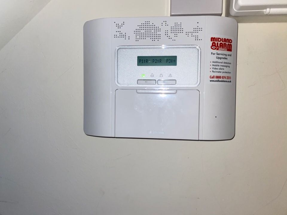 Alarm service on a Visonic PowerMaster30 alarm we installed about 5 year ago on behave of Cala Homes.