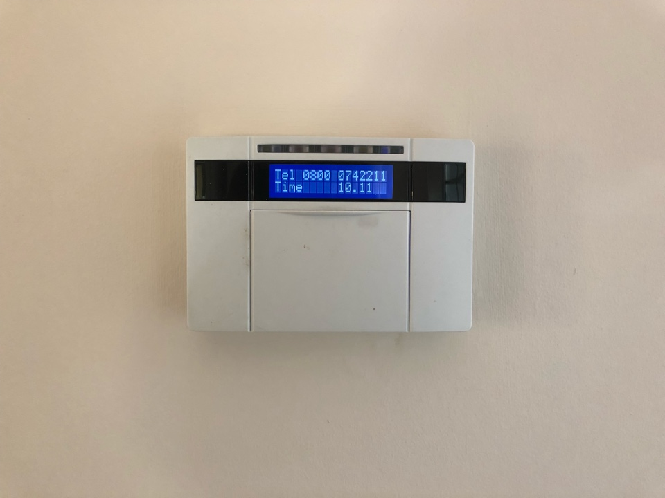 Stratford-upon-Avon, Warwickshire - Alarm service on a Castle Pyronics Euromini wired alarm, battery and all detectors checked.