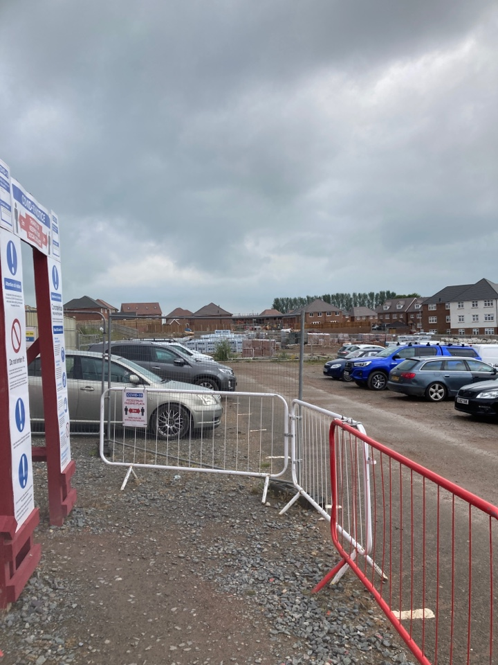 Tamworth, Staffordshire - Installed a wireless visonic alarm in another plot on the Redrow site