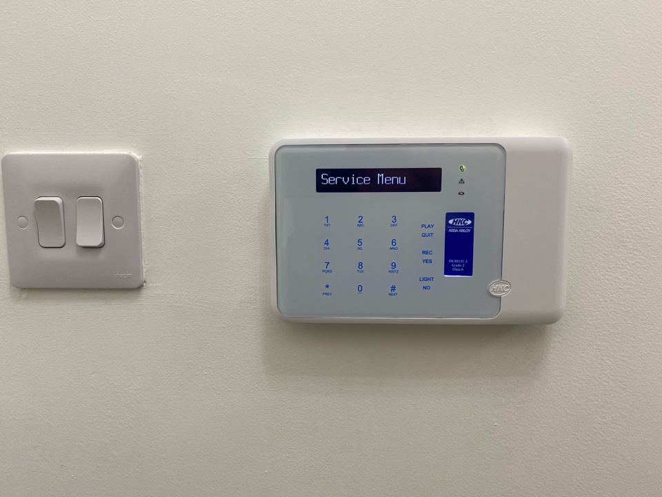 Alarm upgrade for a new customer. This involved a new main panel, keypad and bell box. We also added some shock sensors for perimeter protection.