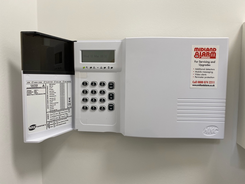 Leamington Spa, Warwickshire - Installation of an HKC Quantum alarm for a new customer including perimeter protection using shock sensors on the windows and doors.