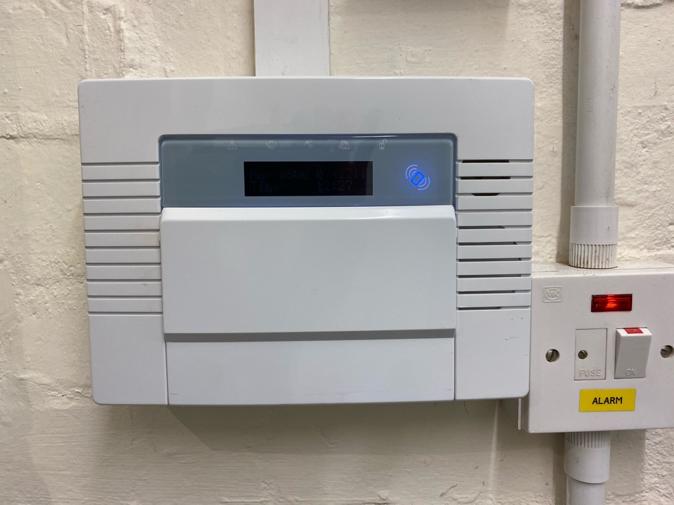Stratford-upon-Avon, Warwickshire - Service of a Castle Pyronics Enforcer wireless alarm we installed a few years ago. No batteries required this time.