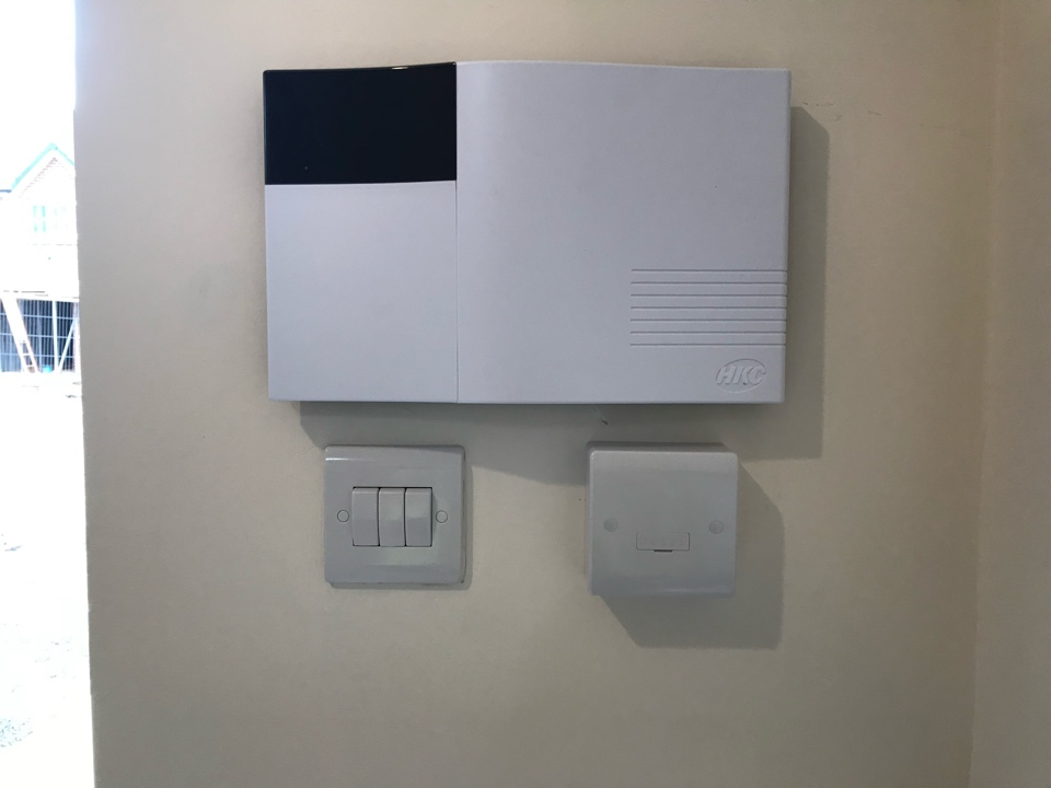 Solihull, West Midlands - Installation of an wireless HKC Quantum alarm for a new customer who has recently moved into a Bellway Homes house.