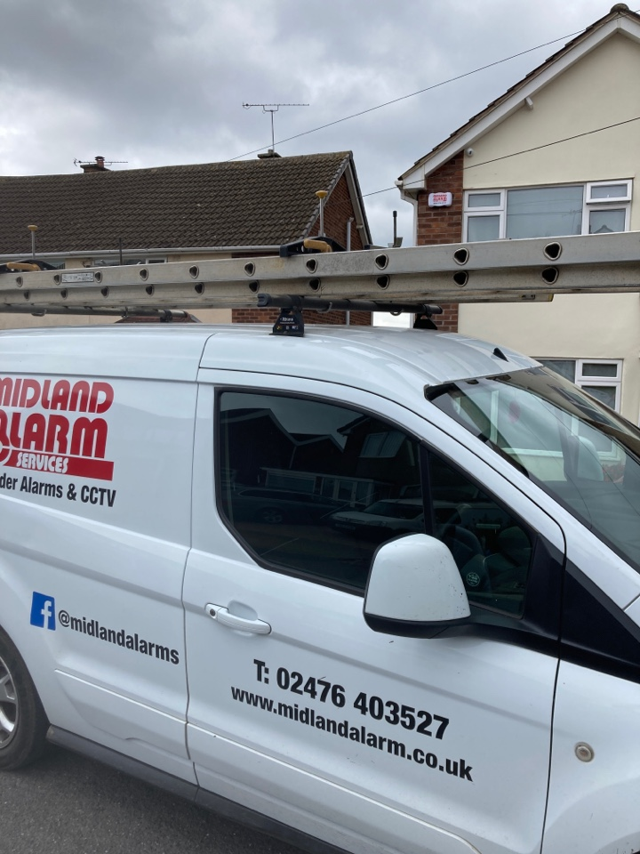 Coventry, West Midlands - Installed a HkC wireless alarm system and a full UNV CCTCV system
