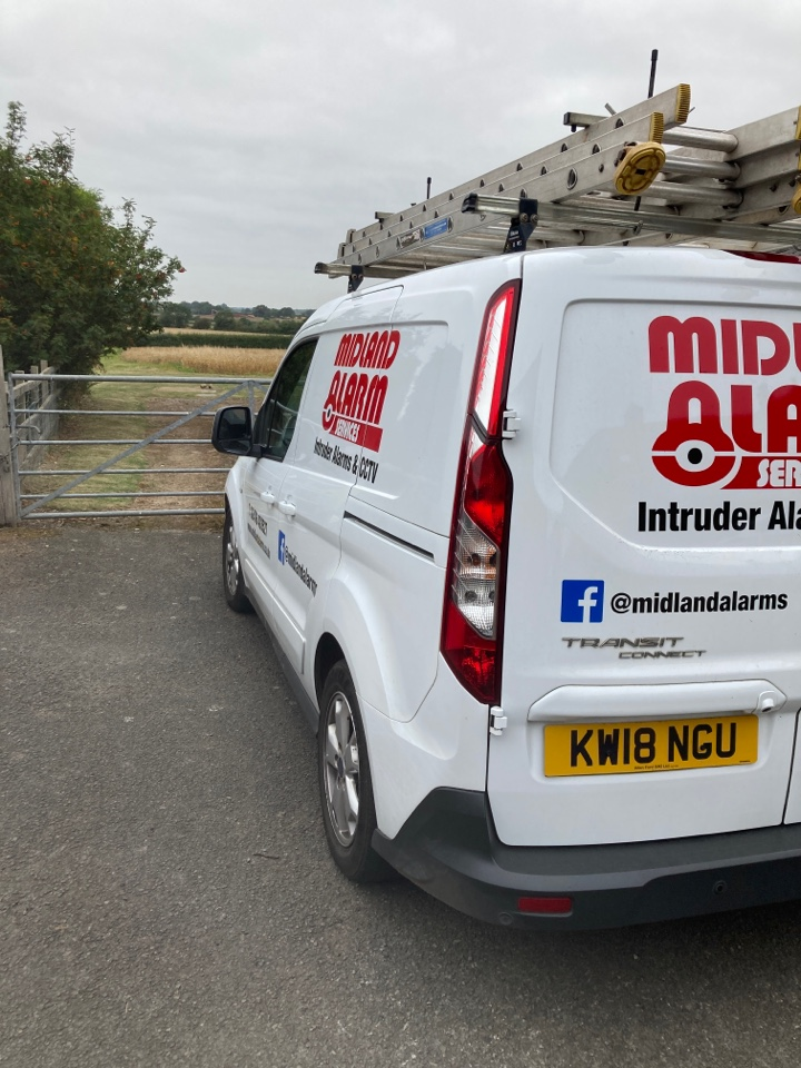 Leamington Spa, Warwickshire - Serviced a wireless alarm and changed the main battery