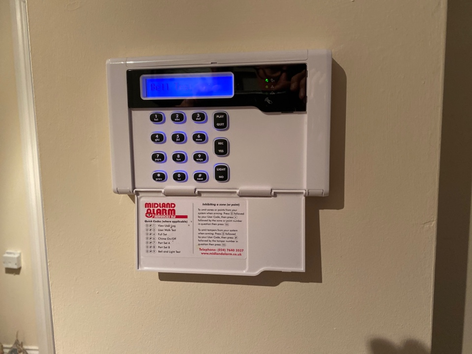 Alarm service on an HKC10270 wired/wireless hybrid alarm I installed 2 years ago.