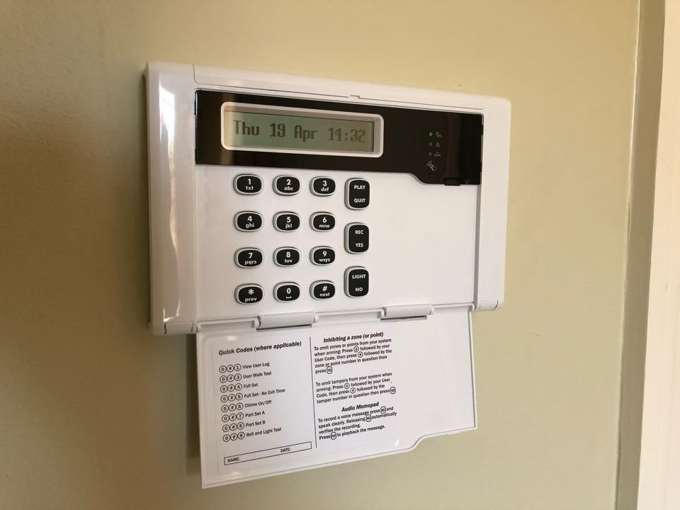 Alarm service on an HKC Quantum wireless alarm which we originally installed on behave of Davidson Homes 4 years ago. It has been service each year since extended the warranty.