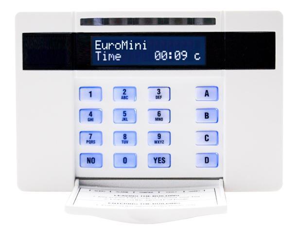 Upgrade to burglar alarm system, including new control panel, keypad & battery.