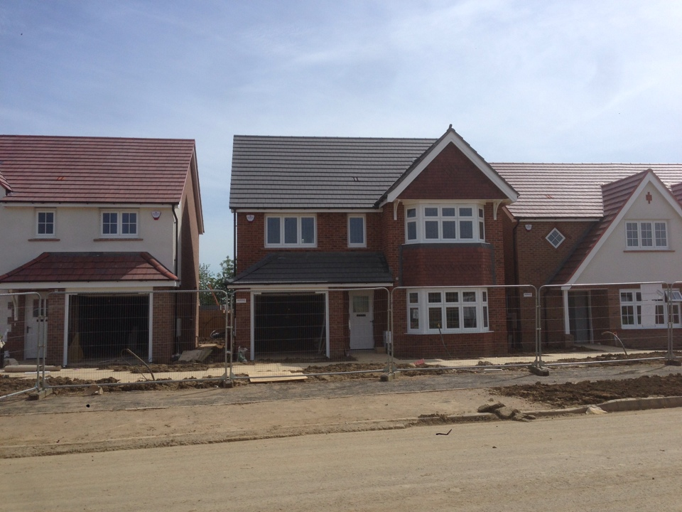 Final alarm fitted for the 5 new show homes for Redrow Homes Hamilton Gardens site in Leicester.